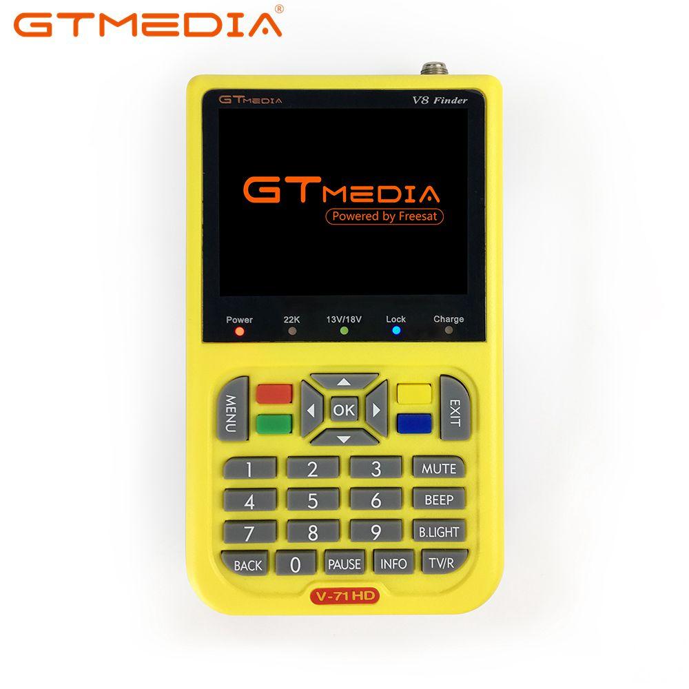 GTmedia V8 S2 Medidor Localizador Localizador de Satélite DVB Receptor Sintonizador DVB-S2 Sat finder com 3.5 polegada Cor Ecrã LCD HD receptor