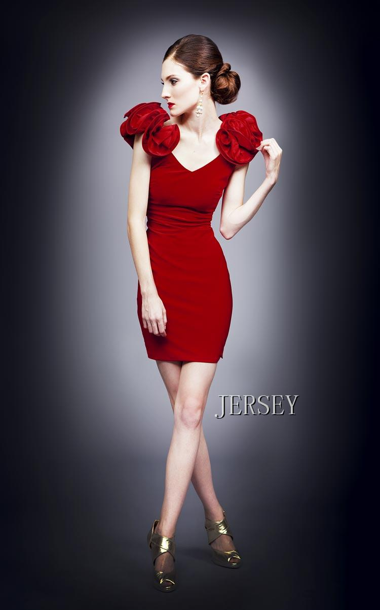 free shipping 2016 new red flower bubble double-shoulder V-neck bridal short design formal evening party gown   Cocktail     Dresses