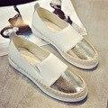 Скольжения на женщин повседневная обувь искусственная кожа рыбак обувь женские лодка обувь марка мокасины мокасин тенис feminino esportivo XK120602