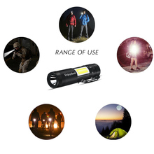2018 New 2000 Lumen Mini Flashlight CREE Q5 LED+COB LED