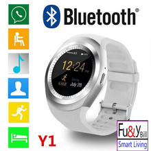 10 Pcs/Lot 2017 New Fashion Y1 Smart Watch Support SIM Card and TF Card with Whatsapp and Facebook & Twitter APP Smartwatch