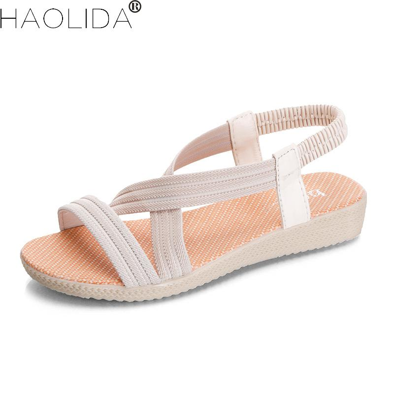Summer Women Sandals 35-41 Bohemia Comfortable Ladies Shoes Beach Gladiator Sandal Women Casual Female Flat Sandals Fashion Shoe women sandals 2017 summer shoes woman wedges fashion gladiator platform female slides ladies casual shoes flat comfortable
