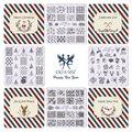 Ногтей Штамп Шаблон 3D Новогодней Моды Шаблон Польский Печать Тиснения Пластины Красоты Трафареты Для Ногтей