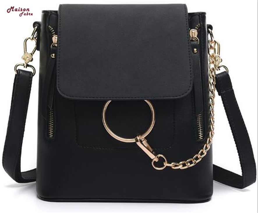 2018 Women Backpack High Quality PU Leather School Bags For Teenagers Girls Woman Fashion Single Shoulder Bags 908#23