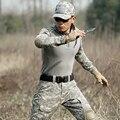 Camisa de combate militar unifrom con coderas tatico militar camuflaje traje militar ee.uu. airsoft tactical gear cs hunter clothing