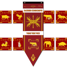 New Caesar Rome empire SPQR Infantry Legions War Banner Home Decor Flag Bar Family decoration Flags S-L cosplay game show props