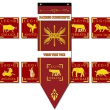 Баннер римских легионов, Декор для дома, флаг цзаря, Римской империи, пехоты, варваров, бара, реквизит для косплея, представлений
