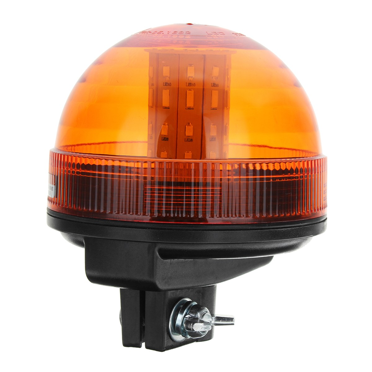 Flashing LED Amber Beacon Mount DIN Pole Bracket Tractor Mounting Holder Weld on