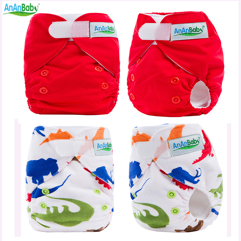 Ny Ankomst Ny Född Baby Cloth Nappy With Microfiber Insert Invändig Cloth Diapers Drop Shipping NBD & NBL Series