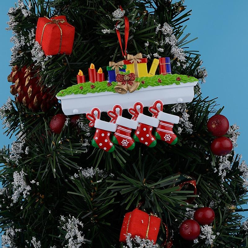 Maxora Mantel Medias Familia de 4 adornos de árboles de navidad - Para fiestas y celebraciones - foto 2