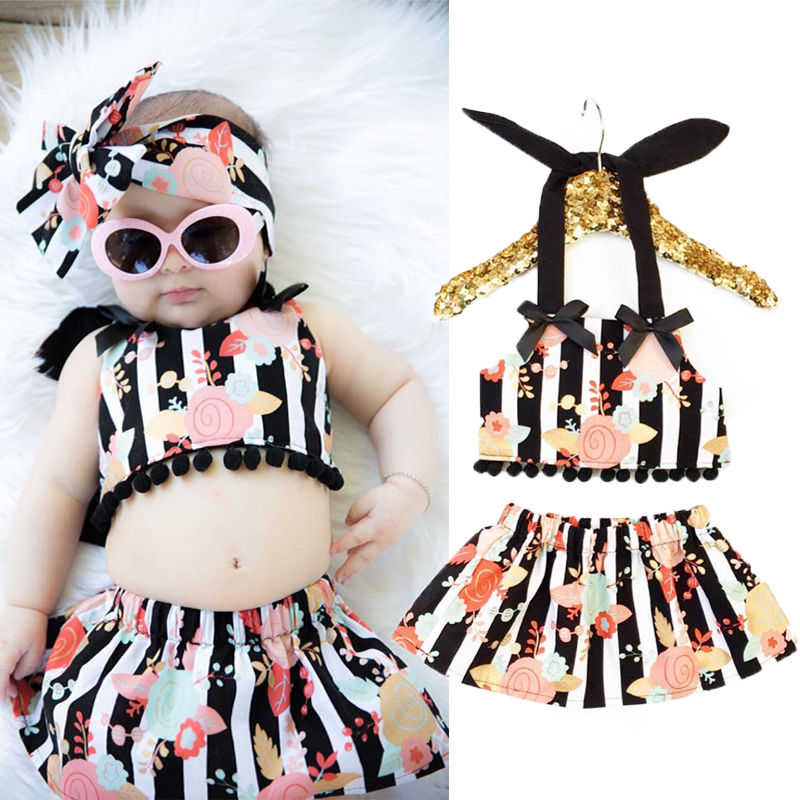 kids swimwear girls two pieces child swimsuit with tassel striped for children bikini baby girl little