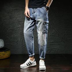 Новое поступление 2019 мужские байкерские джинсы Hots джинсы обтягивающие джинсовые дизайнерские байкерские джинсы шаровары мужские модные