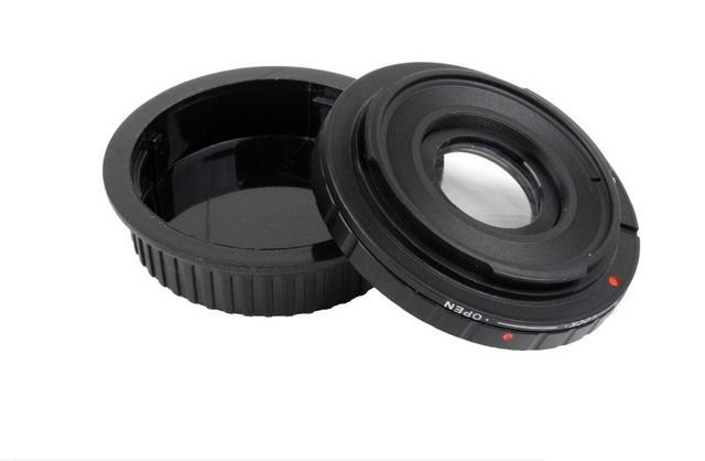 FD Lentes para E0S EF Adaptador de Montaje Del Cuerpo con Vidrio Óptico enfoque Infinito 50D 5D 450D 500D 550D 600D 650D 700D FD-E0S