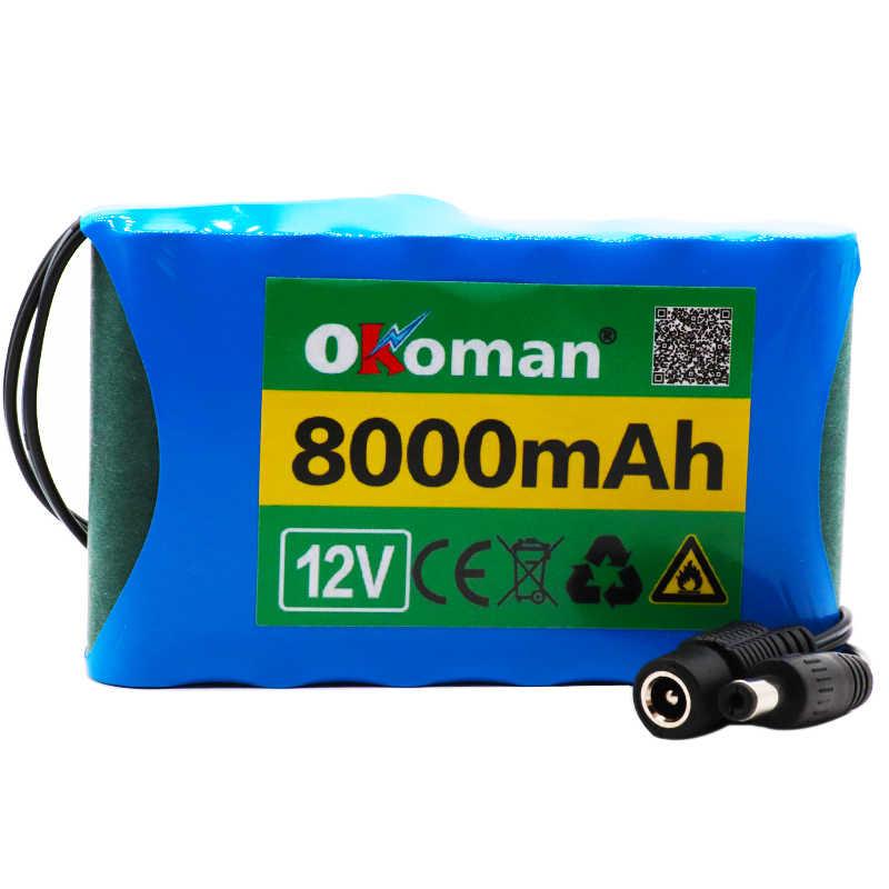 Высококачественный аккумулятор 8Ah 18650 перезаряжаемый литий-ионный аккумулятор Емкость DC 12,6 V 8000 mAh CCTV монитор камеры