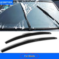 Car Styling U Type Soft Frameless Bracketless Rubber Car Front Windshield Wiper Blade For Skoda Superb