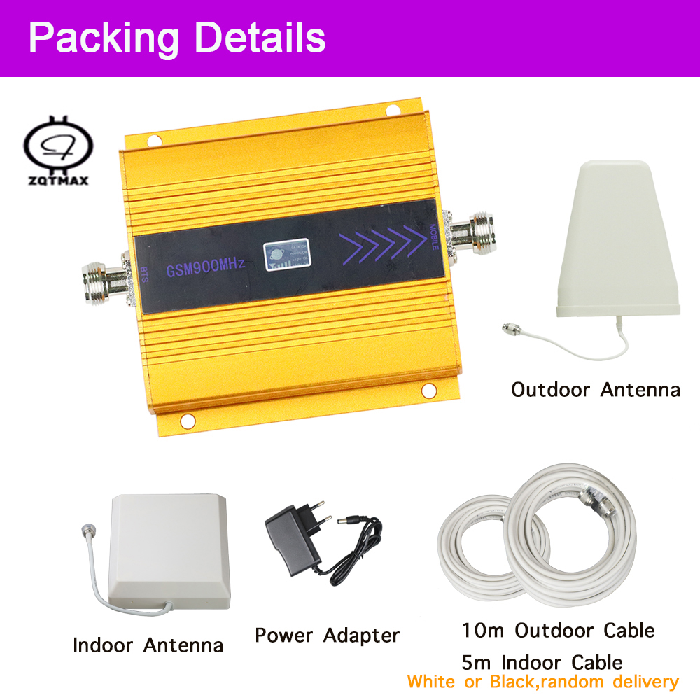ZQTMAX GSM Amplifier 900MHz Signal Repeater GSM Mobile Phone Repeater Mini Cell Phone Signal Booster