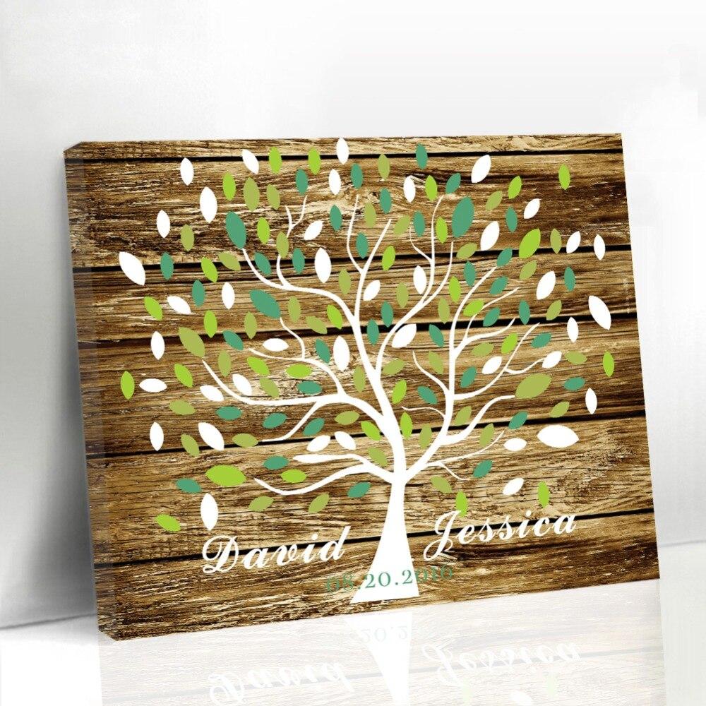 Personalisierte Einzigartige Hochzeit Blatt Baum Holzrahmen ...