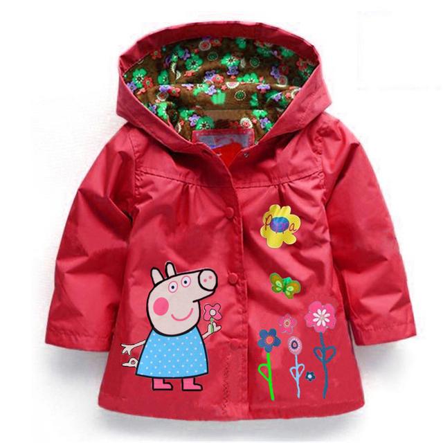 Crianças Outerwear quente casaco Casual com capuz capa de chuva roupa dos miúdos à prova d ' água e à prova de vento meninas casacos para 2 - 8 T