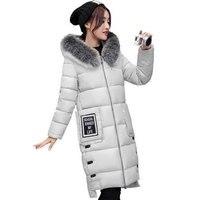 Thicken Hooded Winter Big Fur Jacket Women Warm Long Slim Hooded Parka Coats Casual Jaqueta Feminin