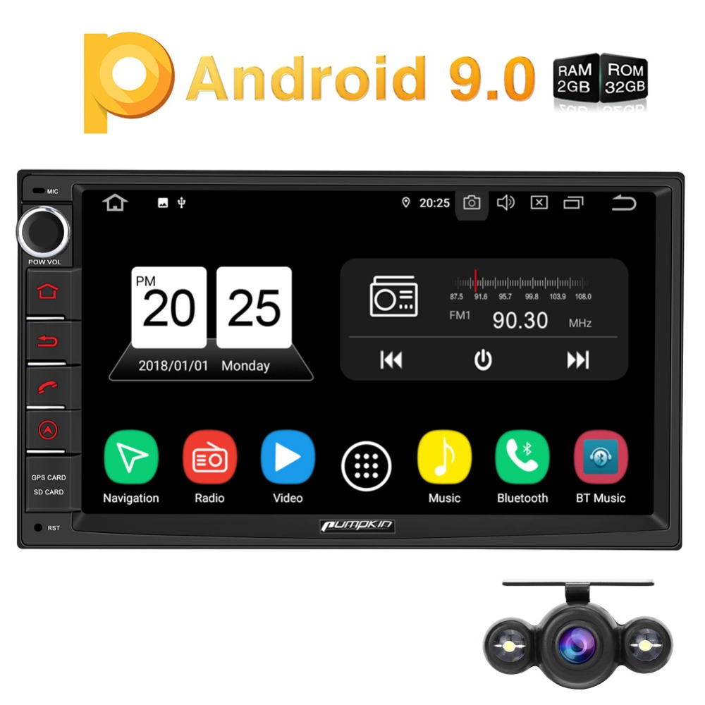 Pumpkin 2 Din 7'' Android 9.0 Universal GPS Car Radio No DVD Player 2G RAM 32G ROM Car Stereo Audio Wifi 4G Fast Boot Headunit