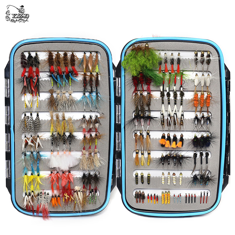 180 pcs Wet Dry Nymph Fly Fishing Flies Set Fly Lure Kit hand tied Flies for