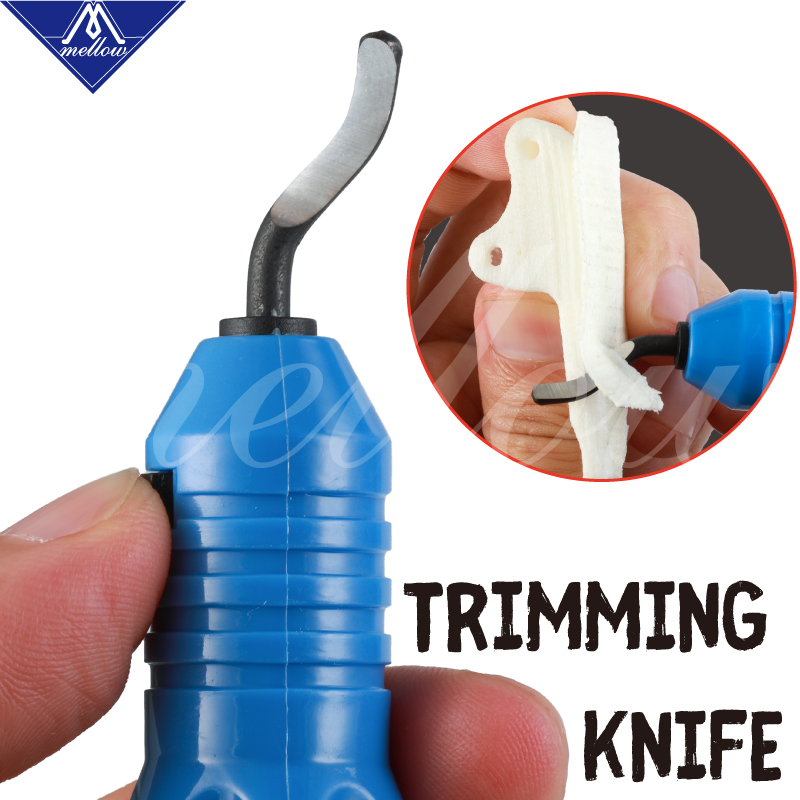 Mellow Trimming Tool 3D Print Trimming Knife Scraper 3D Printer Tool PLA ABS PETG Material Model Pruning