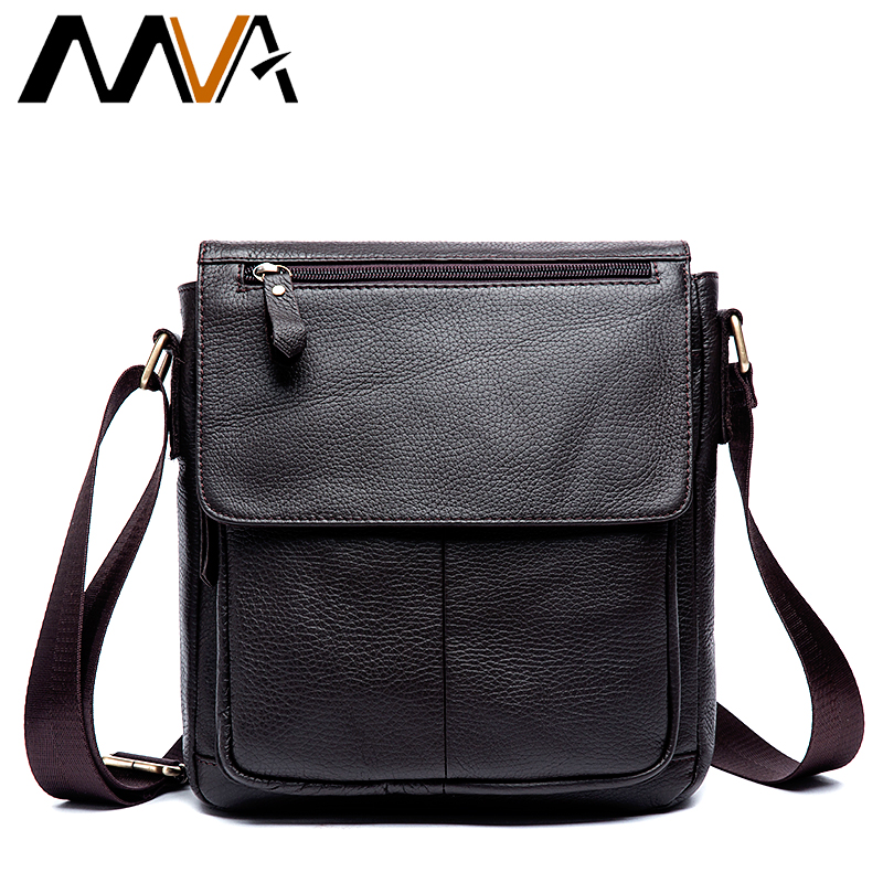 MVA Messenger Bag Men's Genuine Leather Men Bag Messenger Shoulder Bags Small man Crossbody Bags for men leather handbags 819 mva men s briefcase leather laptop bag 14 genuine leather men bag men messenger shoulder bags men s crossbody bags handbags