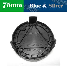 20 Pcs/Lot OEM 75mm Blue & Silver Chrome 3 Pin Wheel Center Hub Caps Cover Emblem For S SL SLK C CL CLK CLS CL ASS 1714000025