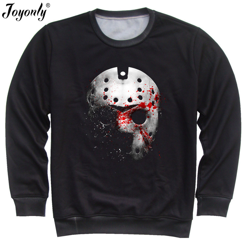 Black t shirt ninja mask - Joyonly Sweatshirts 2017 Autumn Women Men Skull Mask Printed Long Sleeve Casual O Neck Pullovers Sweatshirt Warm Hoodies Tops