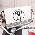 QIAN YI YUAN Marca bolsos de Moda Pu bolso Baguette Bolsas Mensajero de Las Mujeres la Carta de alta calidad En el estilo del bolso Femenino