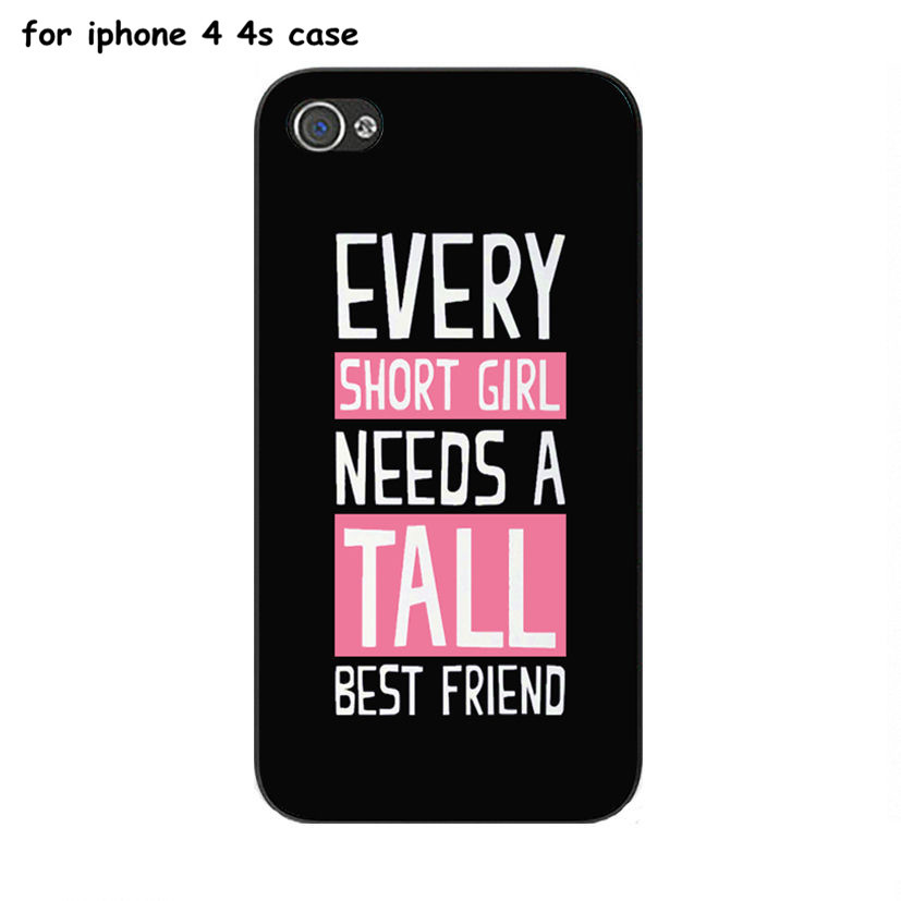 Awesome Tall and shorts best friend quotes plastic phone cases for