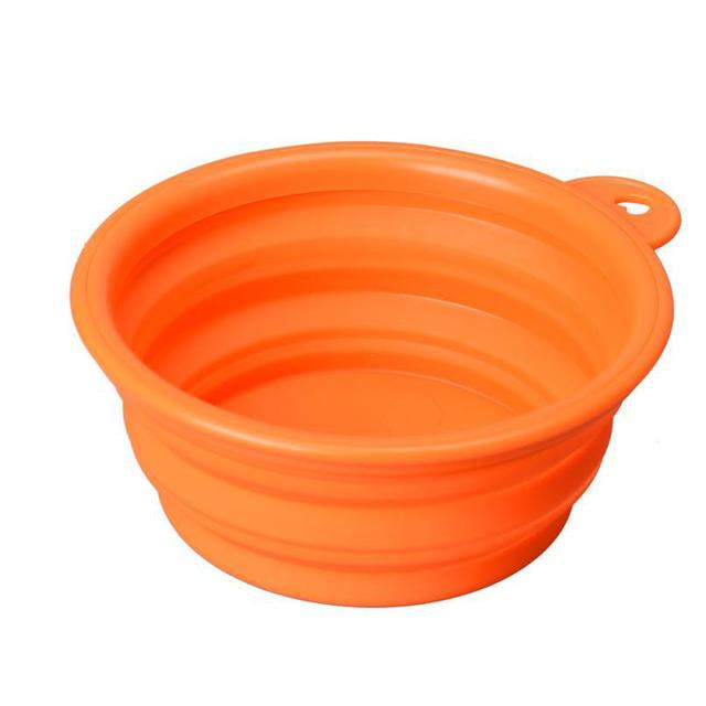 Super Deal dog bowl,Dog Cat Pet Travel Bowl Silicone Collapsible Feeding Water Dish Feeder portable water bowl pet