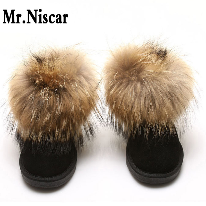 ФОТО LEO Fashion Fox Wool Women Snow Boots Low Cylinder Genuine Leather Cowhide Woman Winter Warm Shoes Leathers Girls Boots