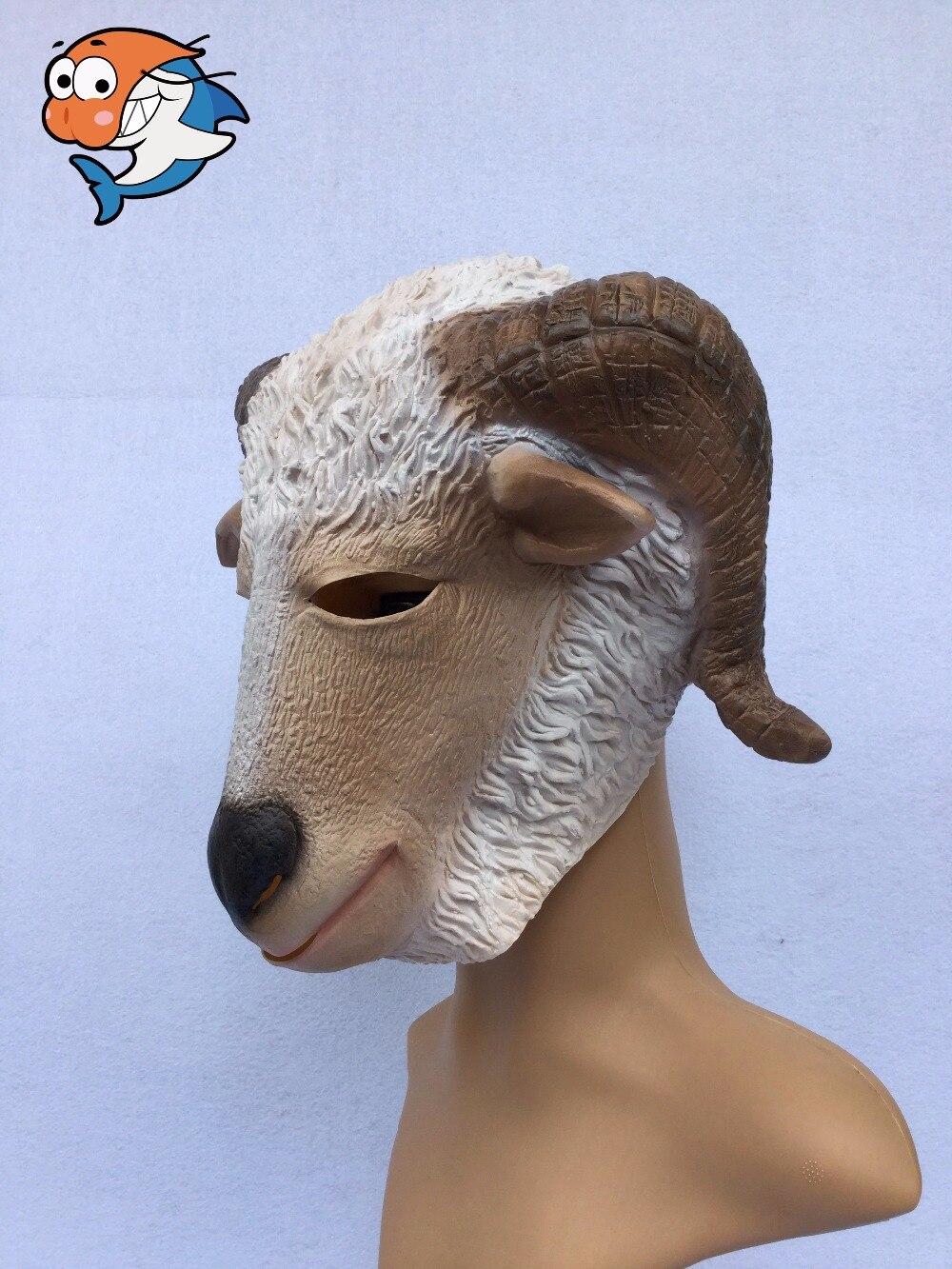 Halloween Lovely Goat Latex Masks Full Head Natural Rubber Animal ...
