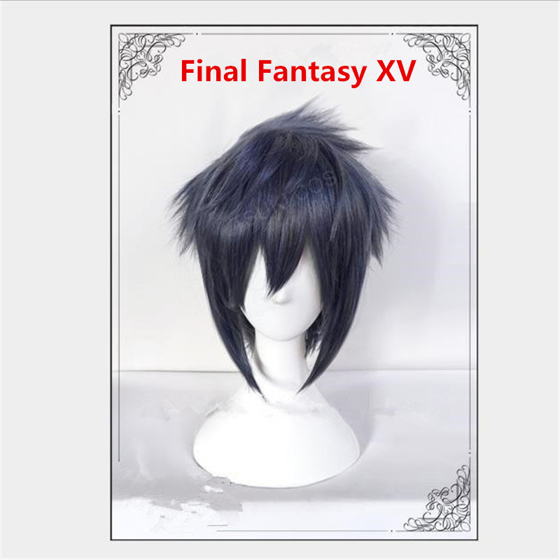 Motivated New Anime Game Final Fantasy Xv Ff15 Noctis Lucis Caelum Dark Blue Gray Cosplay Costume Wig Hair Cosplay Wig Accessories We Take Customers As Our Gods