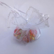 50pcs 26cm diameter gauze bag drawstring pouch wedding birthday Christmas candy gift bag display bag Round Organza bag