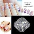 1 UNIDS Caliente de Alta Calidad Rombo/Star Nail Art Glitter Powder Hexágono de Brillos de Uñas para Uñas Consejos Decoraciones Belleza herramientas