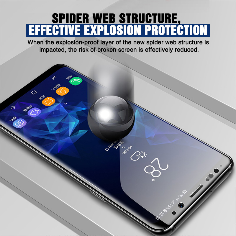Image 2 - 111D Full Curved Protective glass on for Samsung Galaxy S8 S9 S6 S7 edge Plus Screen Protector Tempered Glass on Note 8 9 Film-in Phone Screen Protectors from Cellphones & Telecommunications
