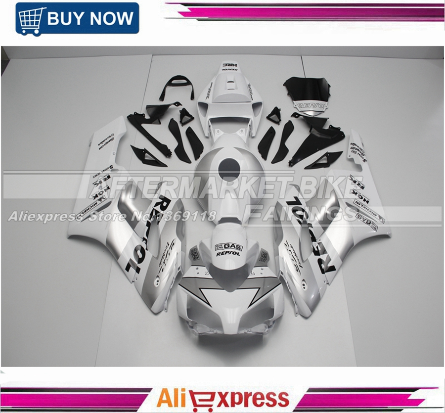 ABS Plastic Complete CBR1000RR 2004 Silver Repsol Fairing Kit 2005 For Honda Injection Moulding gardena 7000 classic 01780 20 000 00