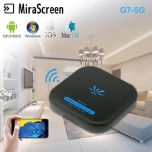 Newest MiraScreen G7 5G TV Stick Wireless High Speed WiFi 1080P Display Receiver Support Miracast Airplay DLNA for ios/ Android