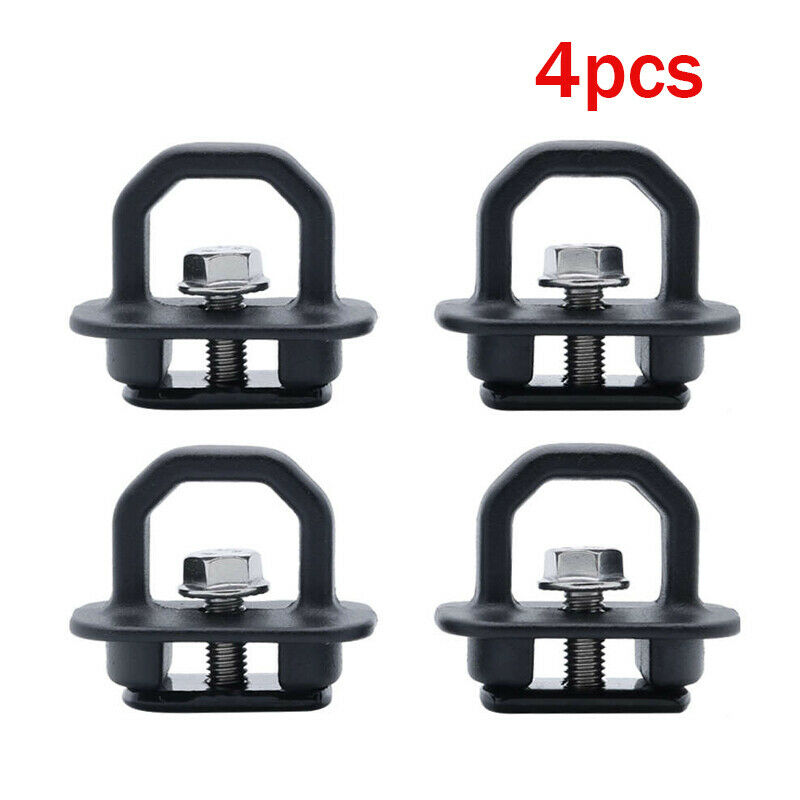 Krator 4PCS Car Accessories Tie Down Anchor Truck Bed Side Wall Anchors For GMC Pickup
