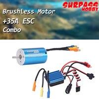 SURPASS HOBBY 2845 3930KV 4P Sensorless Brushless Motor With 35A Brushless ESC Combo for 1/16 1/18 HSP Traxxas Tamiya RC Car