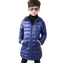 Niñas invierno 80% blanco pato abajo abrigos niños chaqueta con capucha  Ultra ligero largo niños chaquetas ropa niños abrigo Par. 6274ca798ea31