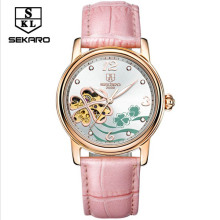 SEKARO Brand Fashion Casual font b Watches b font font b Women b font Skeleton Automatic