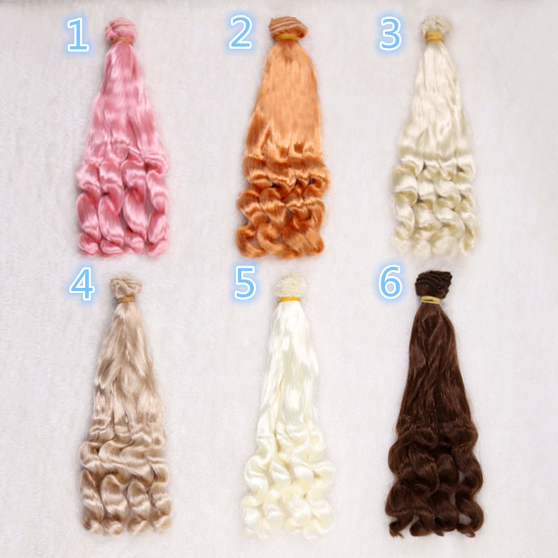 Imitation mohair 20cm Doll Wigs curly hairpiece for 1/3 1/4 BJD/SD Uncle Blyth doll wigs DIY Fapai milk silk soft hairs doll Imitation mohair 20cm Doll Wigs curly hairpiece for 1/3 1/4 BJD/SD Uncle Blyth doll wigs DIY Fapai milk silk soft hairs doll