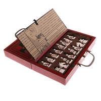 Pieghevole Vintage Cinese di Scacchi Giochi Da Tavolo Set per Leader Gli Amici di Famiglia Intrattenimento Per Il Tempo Libero Genitore-bambino Regalo Da Collezione