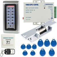 Full Complete Waterproof Metal Case Stand Alone Access Control Set With Electronic Door Lock Power Supply