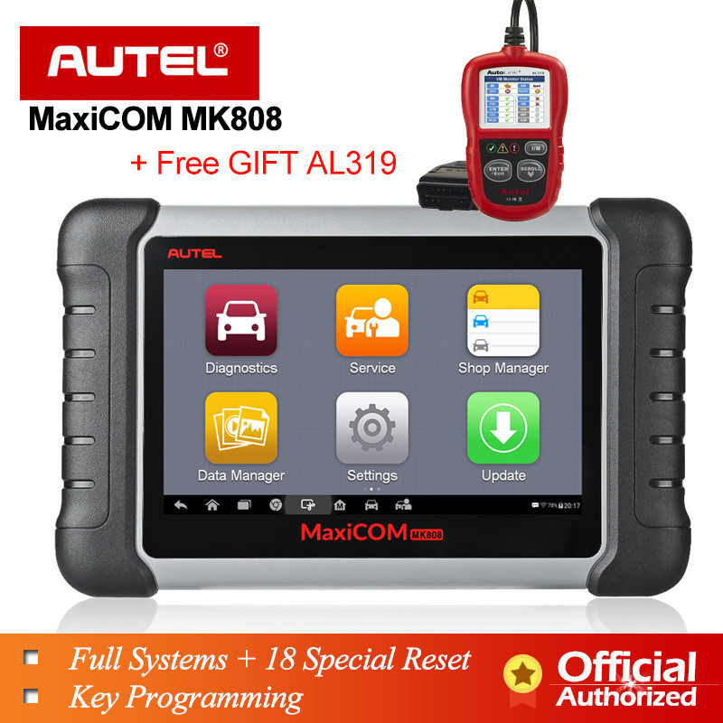 Autel MaxiCOM MK808 OBD OBD2 EOBD Diagnostic Tool Automotive scanner Code reader key programmer MX808 car diagnostic OBDII Cable(China)