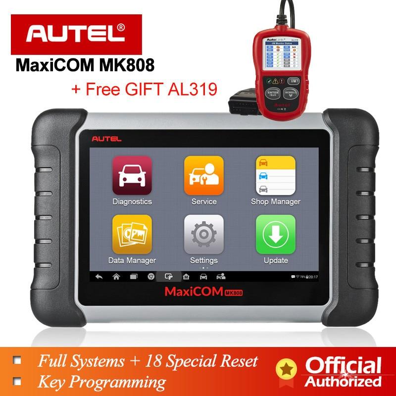 Autel MaxiCOM MK808 OBD OBD2 EOBD outil de Diagnostic automobile scanner lecteur de Code programmeur clé MX808 voiture diagnostic OBDII câble