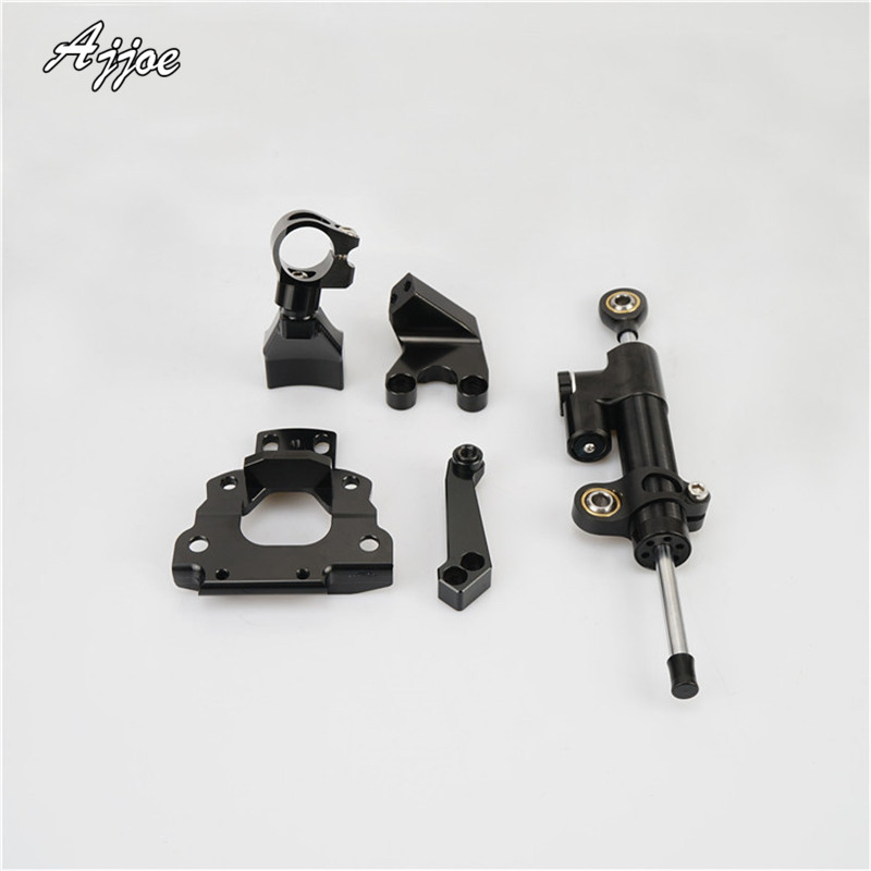 Motorcycle Adjustable Steering Stabilize Damper bracket Mount kit For Z650 2017Motorcycle Adjustable Steering Stabilize Damper bracket Mount kit For Z650 2017